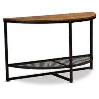 Baxton Studio Eldon Wood & Metal Console Table