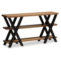 Baxton Studio Mariam Wood & Metal Console Table