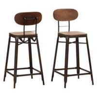 """Baxton Studio® Stack-able Ivor 26"""" Bar Stools in Brown/rust (Set of 2)"""