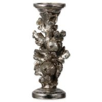 A&B Home Silver Resin Candlestick Holder