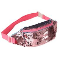 Flip Sequin Belt Bag in Pink