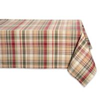 Design Imports Give Thanks Plaid 60-Inch x 104-Inch Oblong Tablecloth