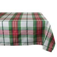 Design Imports 90-Inch x 52-Inch Cozy Christmas Plaid Tablecloth