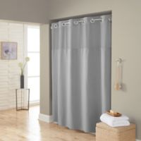 Hookless® Waffle 72-Inch x 98-Inch Fabric Shower Curtain in Grey