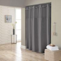 Hookless® Waffle 72-Inch x 98-Inch Fabric Shower Curtain in Dark Grey
