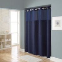 Hookless® Waffle 72-Inch x 98-Inch Fabric Shower Curtain in Navy