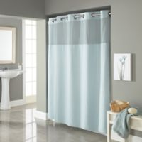 Hookless® Waffle 72-Inch x 98-Inch Fabric Shower Curtain in Misty Blue