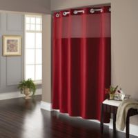 Hookless® Waffle 72-Inch x 98-Inch Fabric Shower Curtain in Red