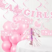 "Creative Converting™ ""It's A Girl"" Baby Shower Decorations Kit"