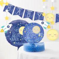 Creative Converting™ To The Moon and Back Baby Shower Decorations Kit