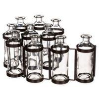 10-Bottle Hinged Flower Vases