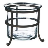 8.5-Inch Glass Planter on Metal Stand