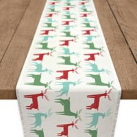 Christmas Reindeer 72-Inch Table Runner in Blue