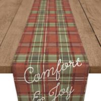 """""""Merry and Bright"""" 90-Inch Table Runner in Red"""