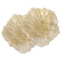 Classic Touch Trophy Leaf Accent Plates (Set of 2)