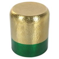 Zuo® Mia Hammered Steel Accent Table in Gold/Green