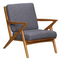 Armen Living Upholstered Celtic Chair in Dark Gray