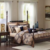 Madison Park Signature Wellington 9-Piece King Comforter Set in Blue