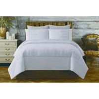 Chambray King Comforter Set in White