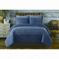 Chambray Twin/Twin XL Comforter Set in Blue