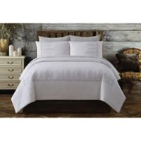 Chambray Full/Queen Duvet Cover Set in White