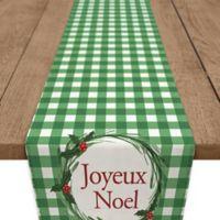 Joyeux Noel 90-Inch Table Runner in Green