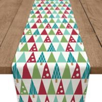 Modern Tree 90-Inch Table Runner in Red