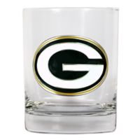 NFL Green Bay Packers 14 oz. Rocks Glass with Metallic Logo