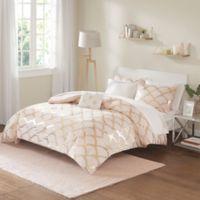 Intelligent Design Lorna 6-Piece Twin Comforter Set in Blush