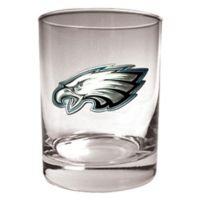 NFL Philadelphia Eagles 14 oz. Rocks Glass with Metallic Logo