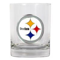 NFL Pittsburgh Steelers 14 oz. Rocks Glass with Metallic Logo