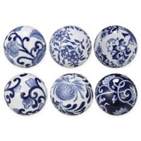 A&B Home 6-Piece Ceramic Patterned Orb Set