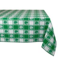 Design Imports Shamrock Check 60-Inch x 84-Inch Oblong Tablecloth in Green