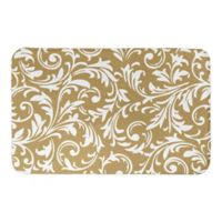 Designs Direct Baroque 21-Inch x 34-Inch Bath Mat in Gold