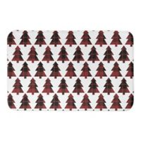 Designs Direct Plaid Tree 21-Inch x 34-Inch Bath Mat in Red