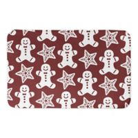 "Designs Direct Gingerbread 21"" x 34"" Bath Mat in Brown"