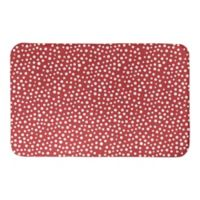 "Designs Direct Christmas Dots 34"" x 21"" Bath Mat in Red"