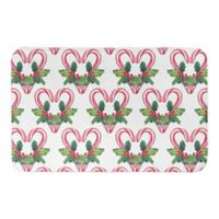 "Designs Direct Candy Cane 34"" x 21"" Bath Mat in Red"