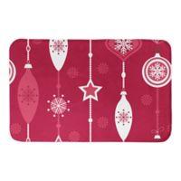 "Designs Direct Red Ornament 34"" x 21"" Bath Mat"