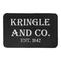"Designs Direct Kringle and Co. 34"" x 21"" Bath Mat in Black"