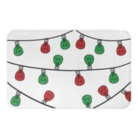 "Designs Direct Christmas String Lights 34"" x 21"" Bath Mat in Green"