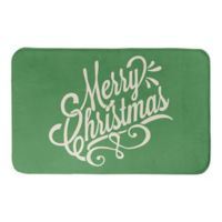 "Designs Direct Merry Christmas 34"" x 21"" Bath Mat in Green"