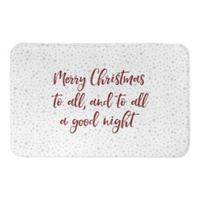 "Designs Direct ""To All a Good Night"" 34"" x 21"" Bath Mat"