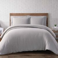 Brooklyn Loom Linen King Duvet Cover Set in Taupe