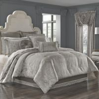 J. Queen New York™ Corinna Queen Comforter Set in Silver