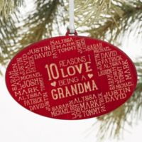 Reasons Why For Her Christmas Wood Ornament in Red