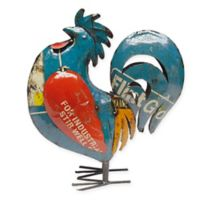 Rocking Rooster Outdoor Statue