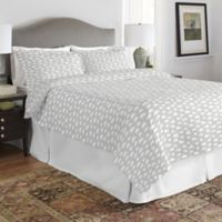 Pointehaven Clouds Full/Queen Duvet Cover Set in Grey/White