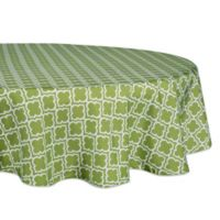 Design Imports Lattice 60-Inch Round Tablecloth in Green