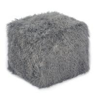 Tov Furniture Fur Upholstered Tov Tibetan Chair in Grey